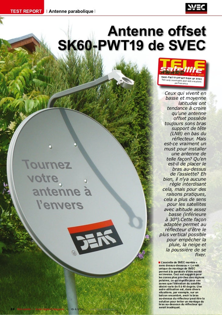 TEST REPORT                   Antenne parabolique                                           Antenne offset                ...