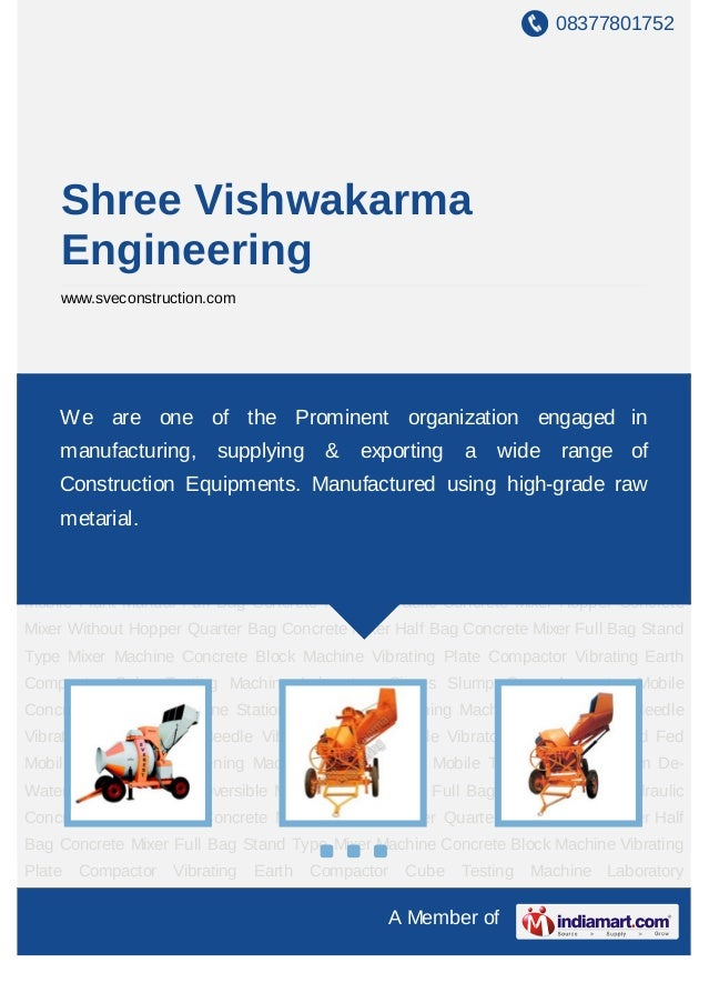 08377801752     Shree Vishwakarma     Engineering     www.sveconstruction.comMini Reversible Mobile Plant Manual Full Bag ...