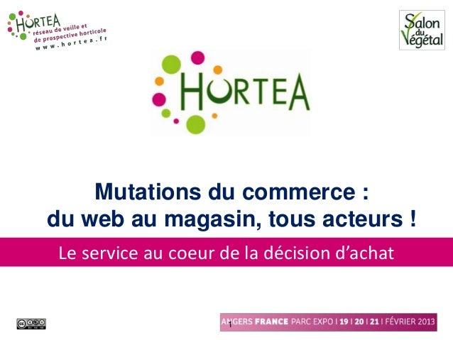 Mutations du commerce :du web au magasin, tous acteurs ! Le service au coeur de la décision d'achat                      1