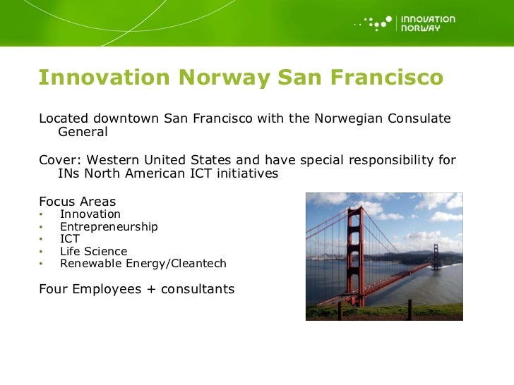 Norway 39 s innovation and technology sector svein egil for Innovation consulting san francisco
