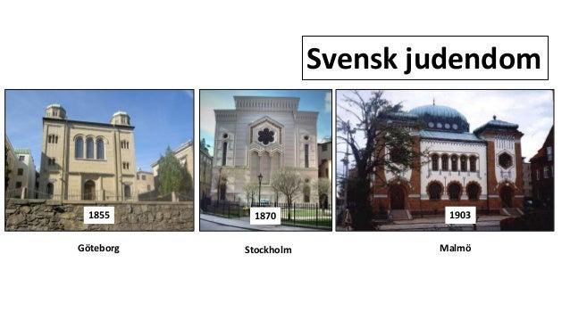 Svensk judendom 1870 19031855 Göteborg Stockholm Malmö