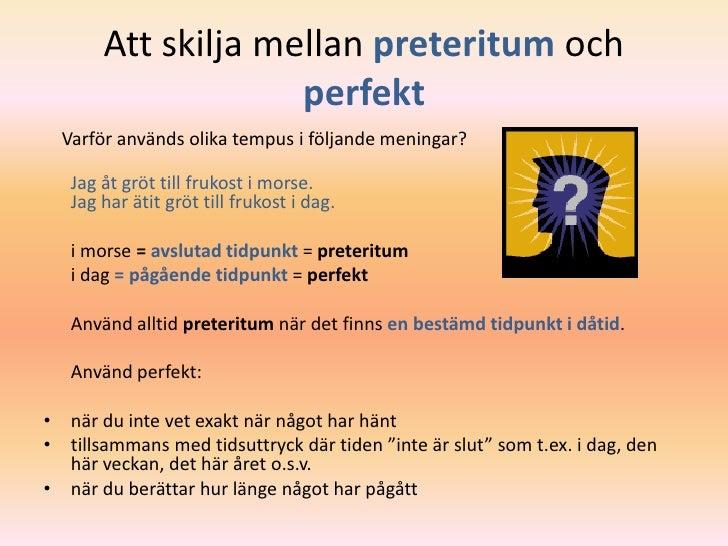 preteritum svenska