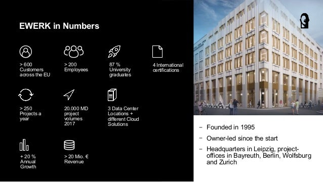 − Founded in 1995 − Owner-led since the start − Headquarters in Leipzig, project- offices in Bayreuth, Berlin, Wolfsburg a...