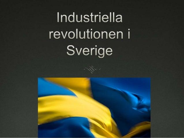 industriella revolutionen sverige