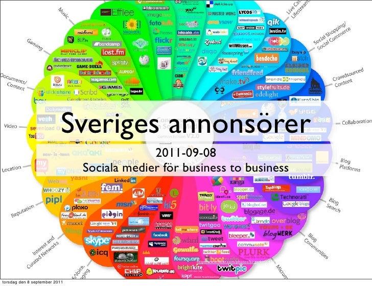 Sveriges annonsörer                                            2011-09-08                               Sociala medier för...