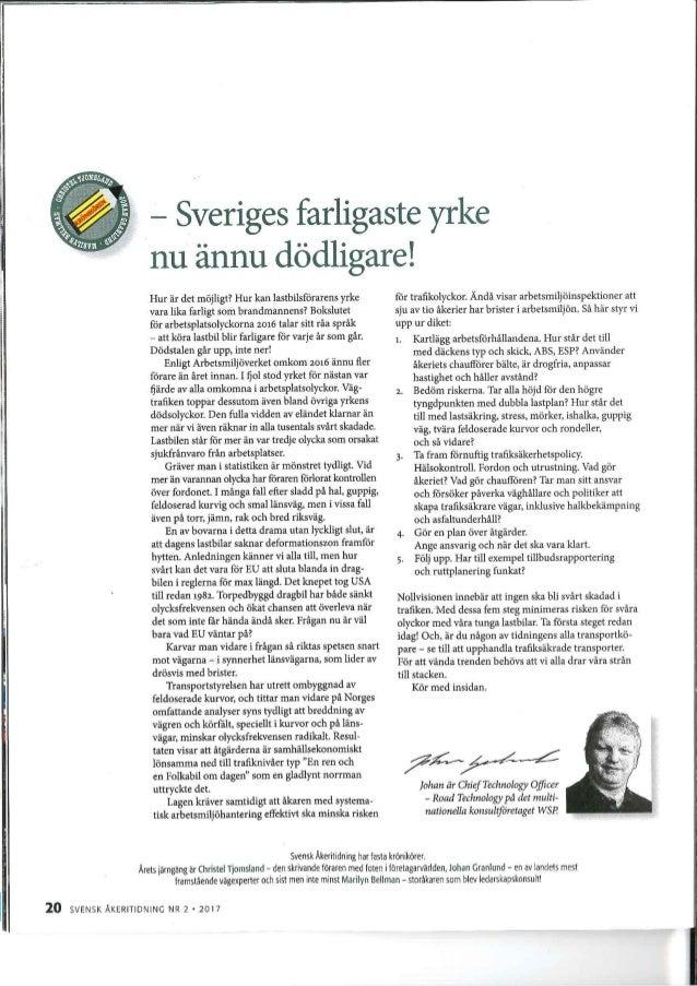 Sveriges farligaste yrke nu ännu dödligare!