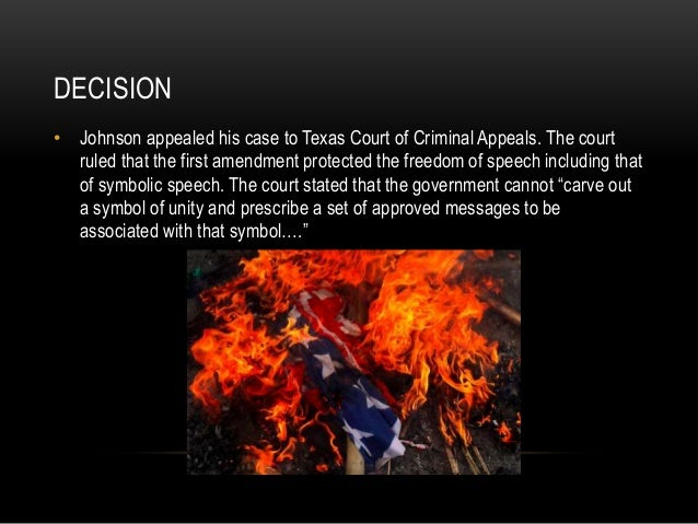 gregory lee johnsons freedom court case essay Read texas v johnson free essay and over 88,000 other research documents the case then went the us supreme court to be argued on march 21 respondent gregory lee johnson, a member of the revolutionary communist youth brigade (youth wing of the.