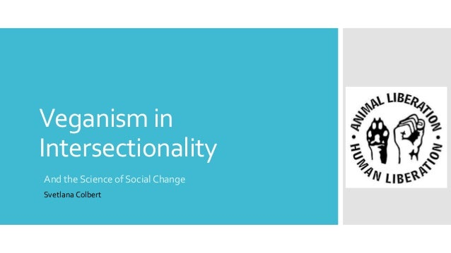 Veganism in Intersectionality And the Science of Social Change Svetlana Colbert