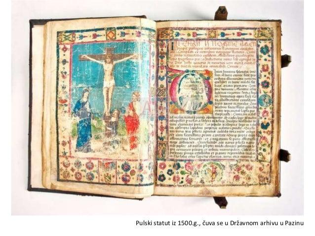 Pulski odlomakglagoljskog misala iz 15.st., pergament
