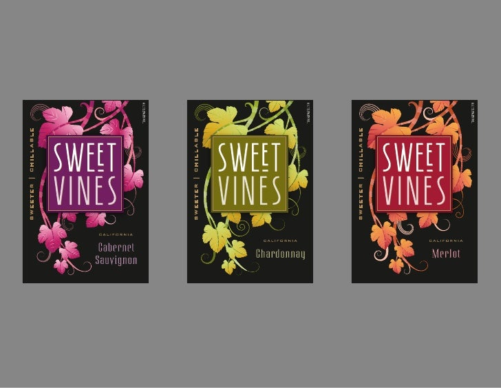 Sweet Vines wine label design