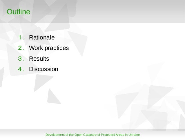 Development of the Open Cadastre of Protected Areas in Ukarine Slide 3