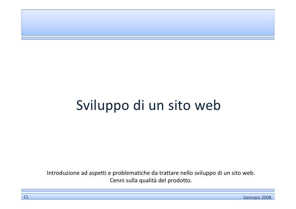 Sviluppo di un sito web for Sito web di progettazione edilizia