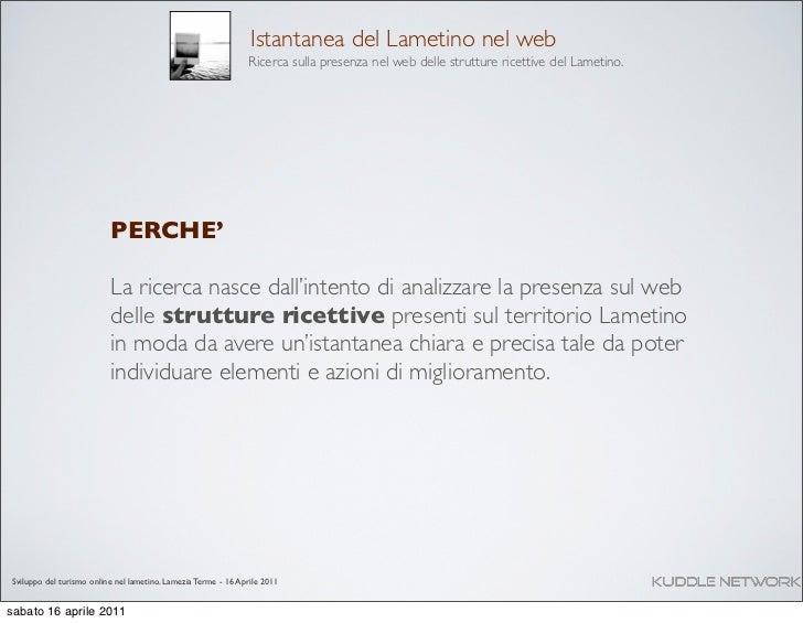 Sviluppo del turismo nel Lametino Calabria - Analisi e ricerca Slide 2
