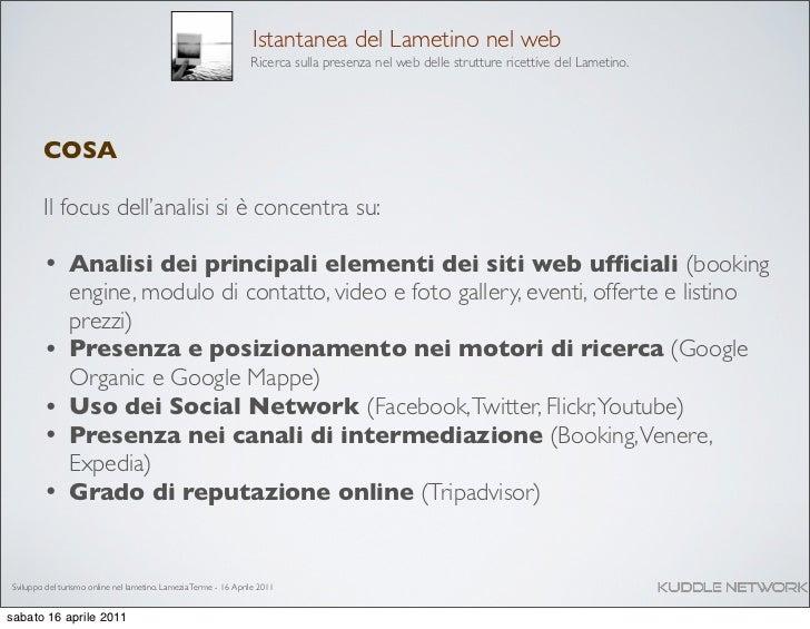 Sviluppo del turismo nel Lametino Calabria - Analisi e ricerca Slide 3