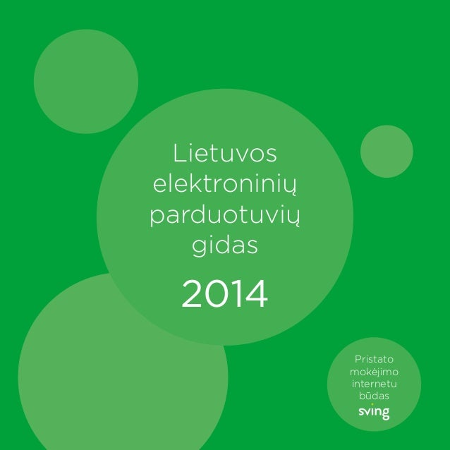 Lietuvos elektroninių parduotuvių gidas  2014 Pristato mokėjimo internetu būdas