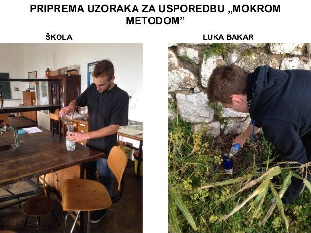 """PRIPREMA UZORAKA ZA USPOREDBU """"MOKROM METODOM"""" ŠKOLA LUKA BAKAR"""