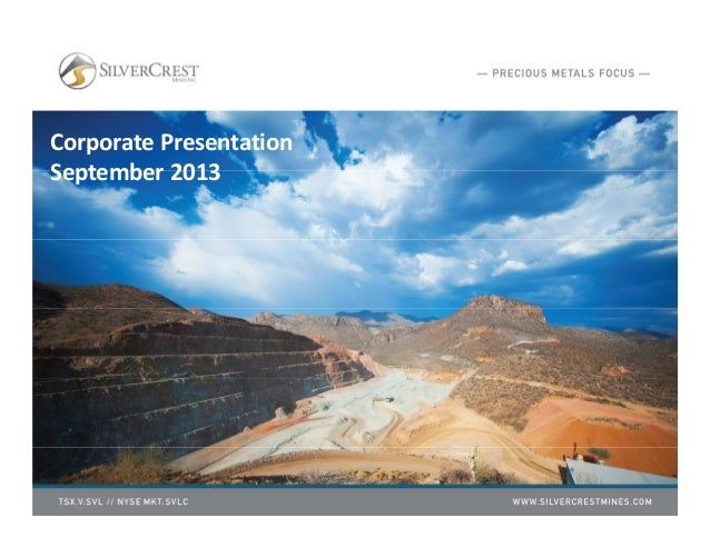 Corporate Presentation September 2013