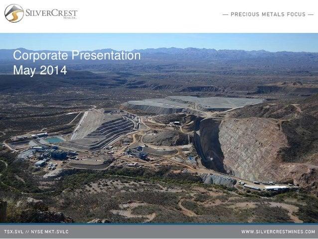 Corporate Presentation May 2014