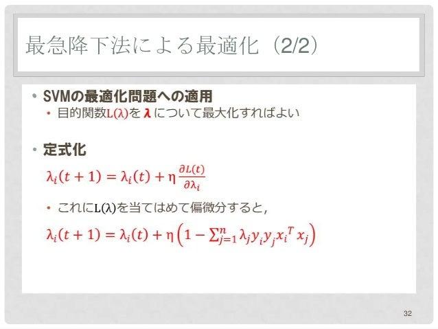 最急降下法による最適化(2/2)•                   32