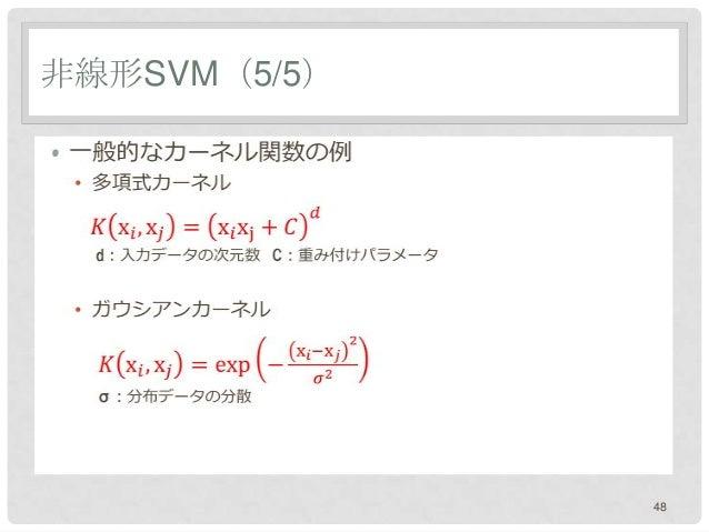 非線形SVM(5/5)•              48