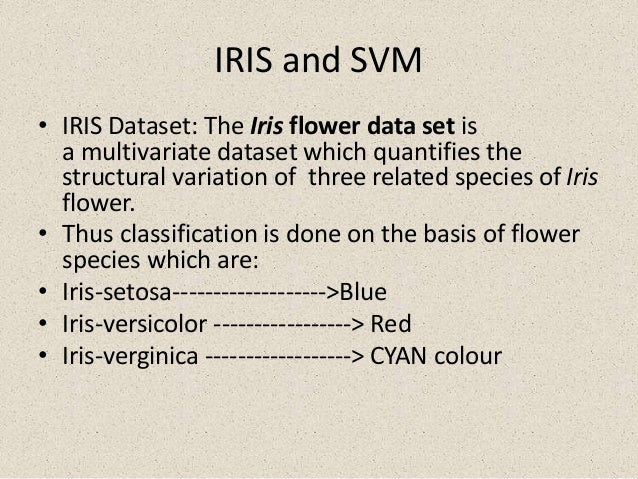 support vector machine svm  with iris and mushroom dataset