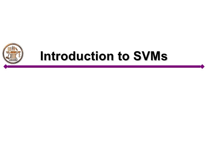 Introduction to SVMs