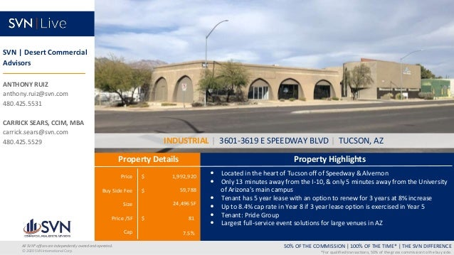 Price $ Buy Side Fee $ Size Price /SF $ Cap Property Highlights Property Details 50% OF THE COMMISSION   100% OF THE TIME*...