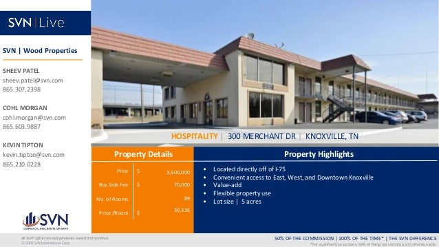 Price $ Buy Side Fee $ No. of Rooms Price /Room $ Property Highlights Property Details 50% OF THE COMMISSION   100% OF THE...