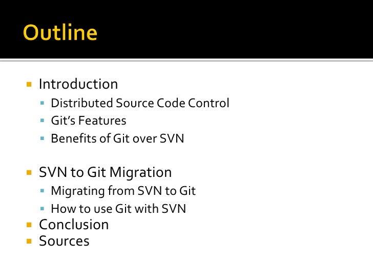 Subversion to Git Migration Slide 2