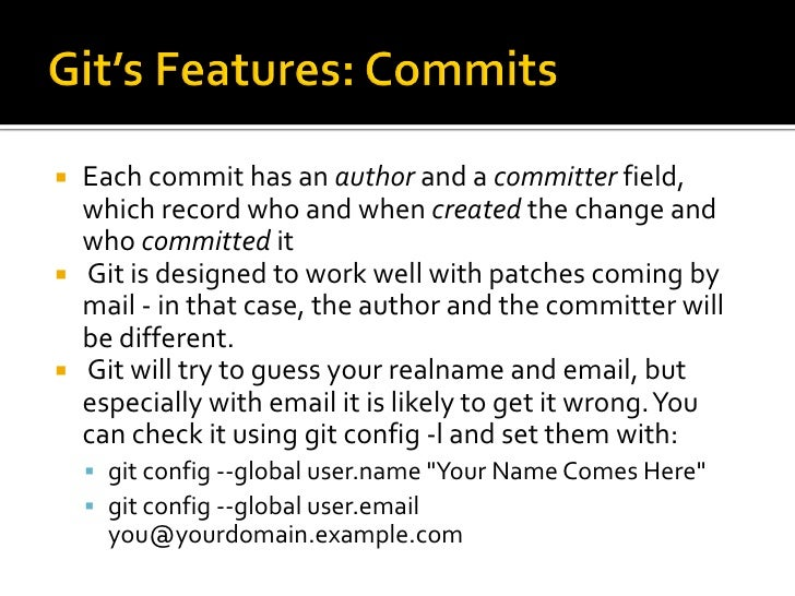 """   The Git commands are in the form """"git     command <command_name>"""".      Eg- """"git commit …. """"    You can interchangea..."""