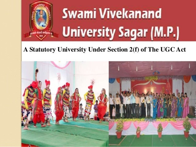A Statutory University Under Section 2(f) of The UGC Act