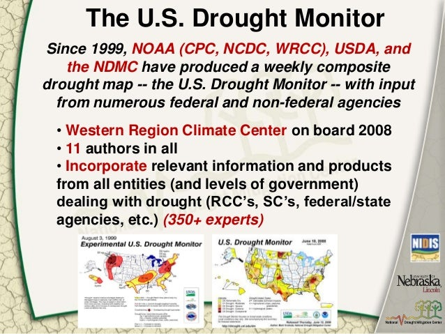 The US Drought Monitor Percentiles Parameters People Process P - Us dought map 2002