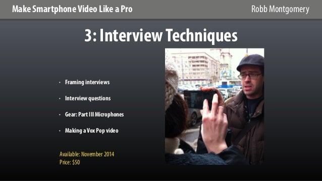 Make Smartphone Video Like a Pro