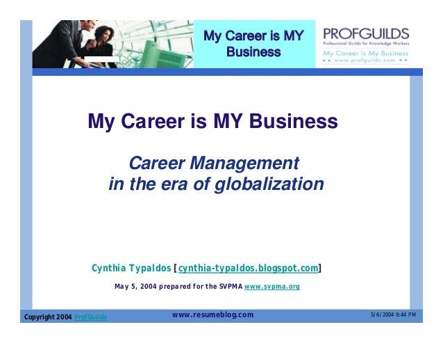 My Career is MY                                                      Business                   My Career is MY Business  ...