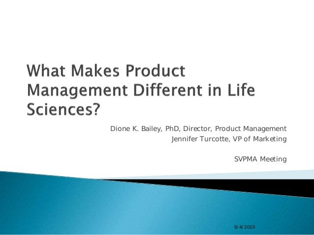 Dione K. Bailey, PhD, Director, Product Management                   Jennifer Turcotte, VP of Marketing                   ...
