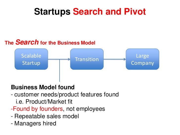 Scalable<br />Startup<br />Large Company<br />>$100M/year<br /><ul><li>Total Available Market > $500m