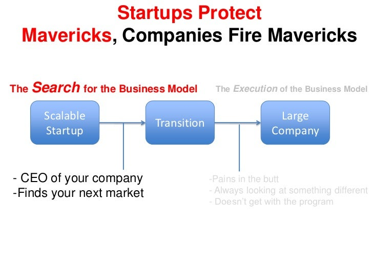 Startups Search and Pivot<br />The Search for the Business Model<br />Scalable<br />Startup<br />Transition<br />Large Com...
