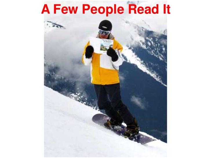 A Few People Read It<br />