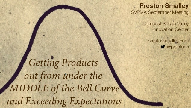 Getting Products  out from under the  MIDDLE of the Bell Curve  and Exceeding Expectations  Preston Smalley  SVPMA Septemb...