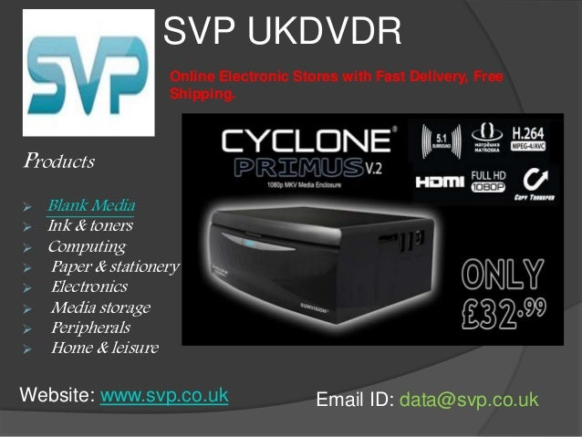 SVP UKDVDR  Products  Online Electronic Stores with Fast Delivery, Free  Shipping.   Blank Media   Ink & toners   Compu...
