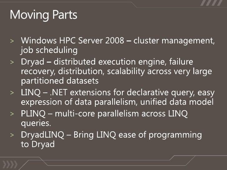 SVR17: Data-Intensive Computing on Windows HPC Server with the ... Slide 2