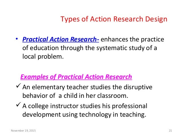 Classroom Action Research Design ~ Action research in education