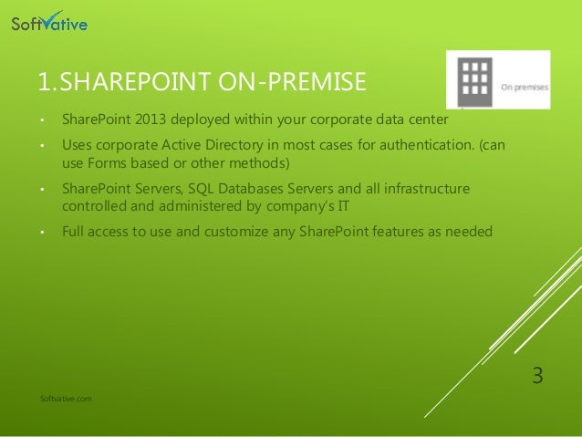 Sharepoint on-premise office365 and hybrid Pros, Cons and Comparison Slide 3