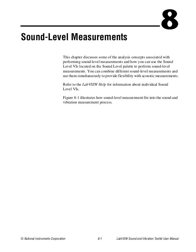sound and vibration toolkit user manual rh slideshare net