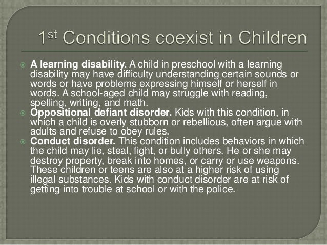 A learning disability. A child in preschool with a learning disability may have difficulty understanding certain sounds ...