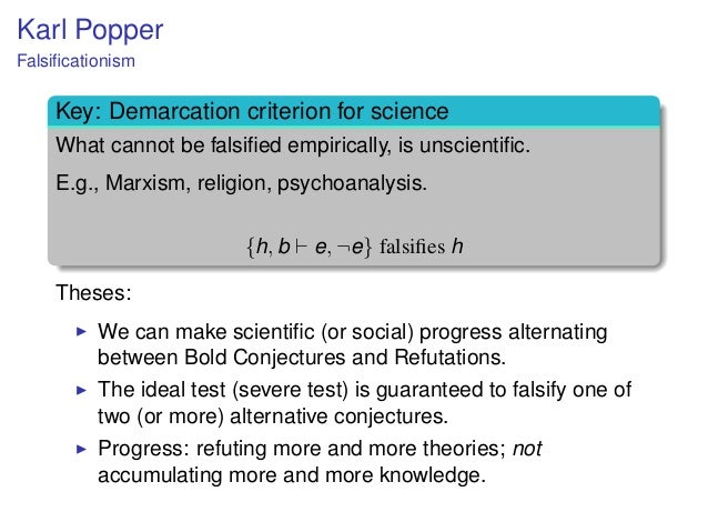 karl poppers first thesis Thus it is my first thesis that we can know of a theory, even before it has been  tested  3see for example j c harsanyi, 'popper's improbability criterion for  the.