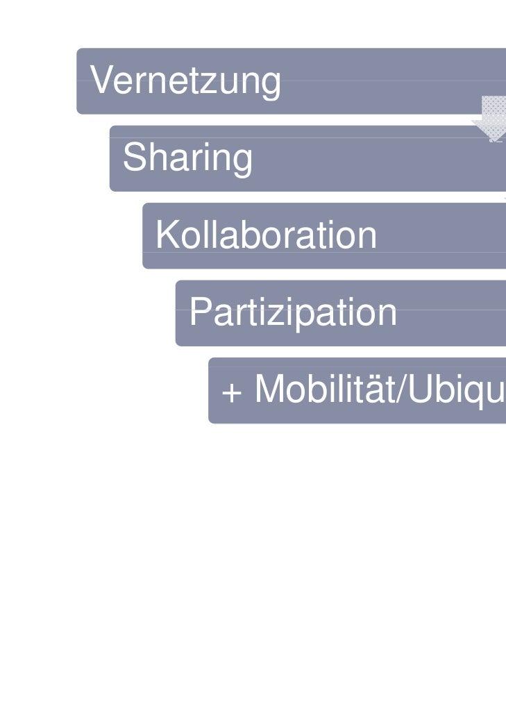 Vernetzung Sharing   Kollaboration     Partizipation       + Mobilität/Ubiquität