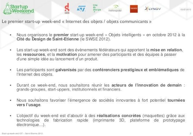 Sartup Week-end Objets Connectés  Slide 2