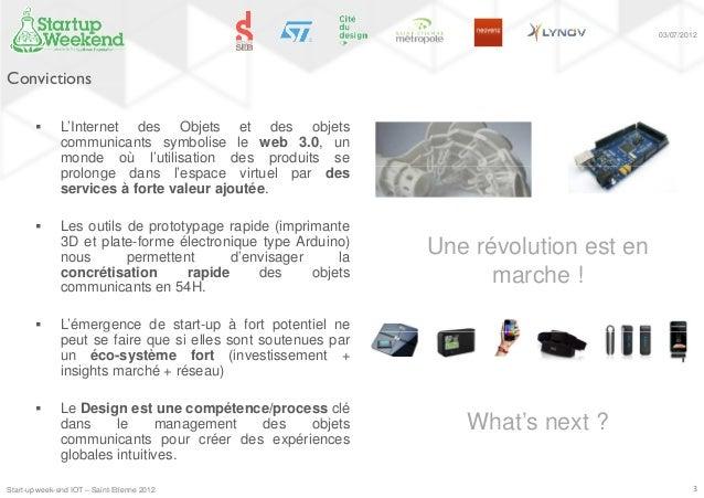 Sartup Week-end Objets Connectés  Slide 3