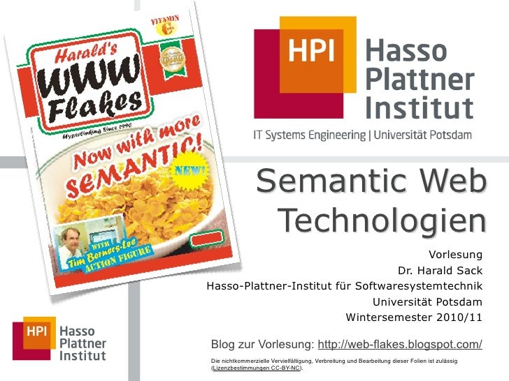 Semantic Web                  Technologien                                         Vorlesung                              ...